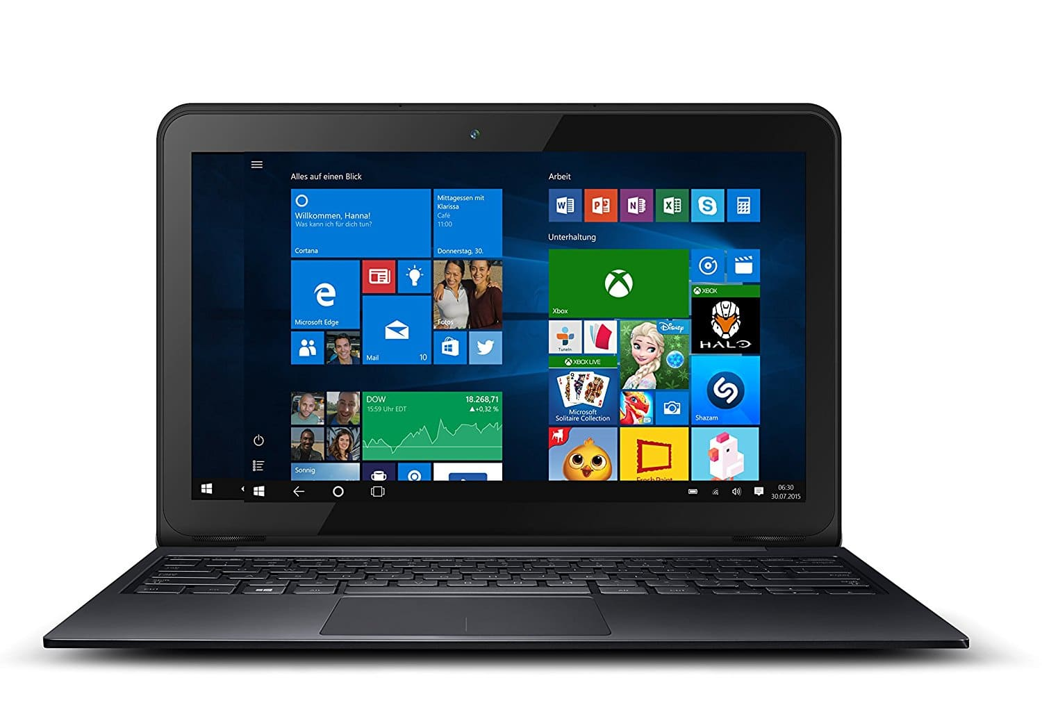 ODYS Prime12 2in1 Notebook 11,6'' FHD IPS 1,92GHz Atom Quad Core 32GB 2GB für 219,00 Euro