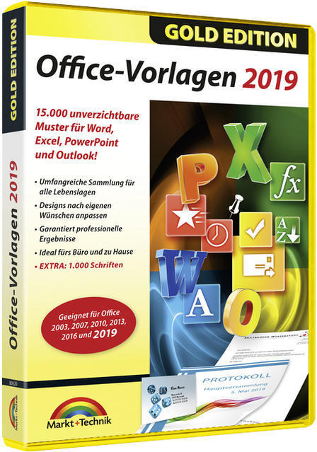 Office Vorlagen 2019 - Gold Edition (PC) für 14,99 Euro