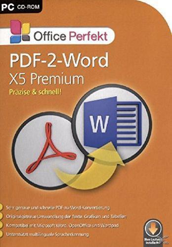 PDF-2-Word X5 Premium (PC) für 29,99 Euro