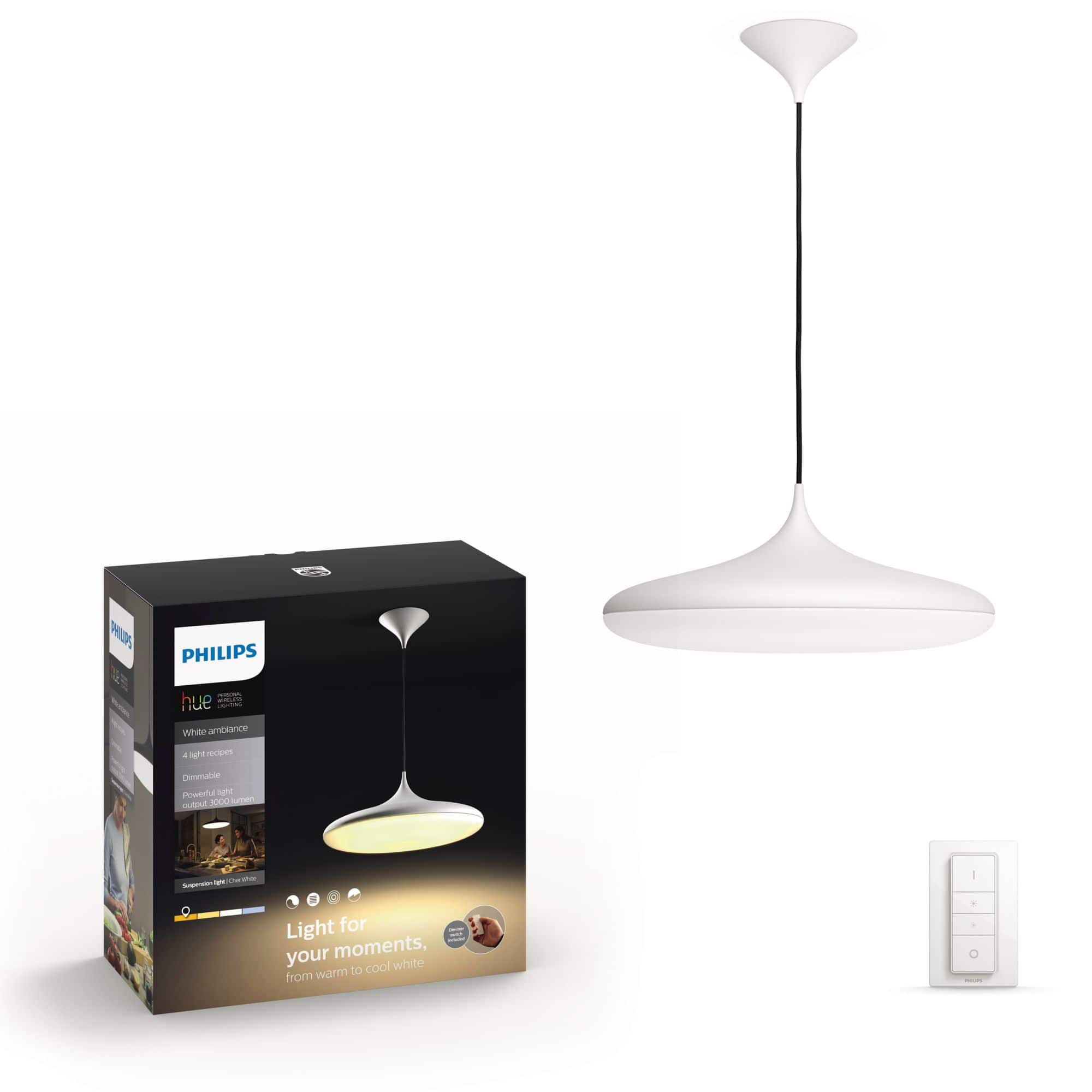 Philips by Signify 4076131P7 Cher Hue White Ambiance-Deckenleuchte LED 39W dimmbar für 199,99 Euro