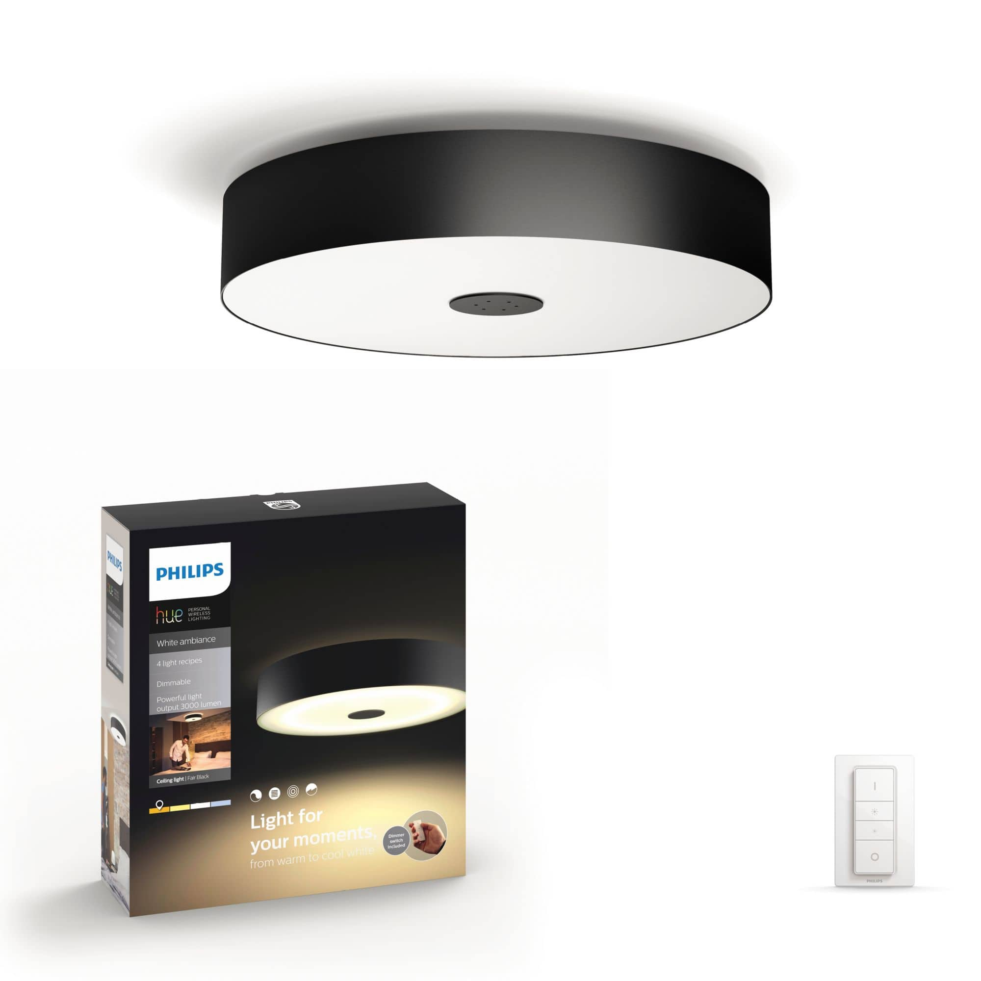 Philips by Signify 4034030P7 Hair Hue White Ambiance-Deckenleuchte LED 39W dimmbar für 199,99 Euro
