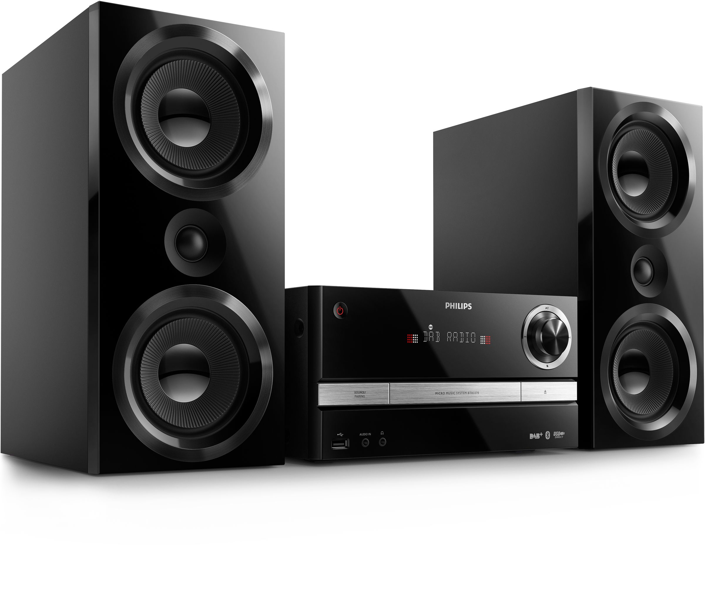 Philips BTB 3370 Mini Stereoanlage UKW-Tuner CD USB Audio-IN für 249,99 Euro