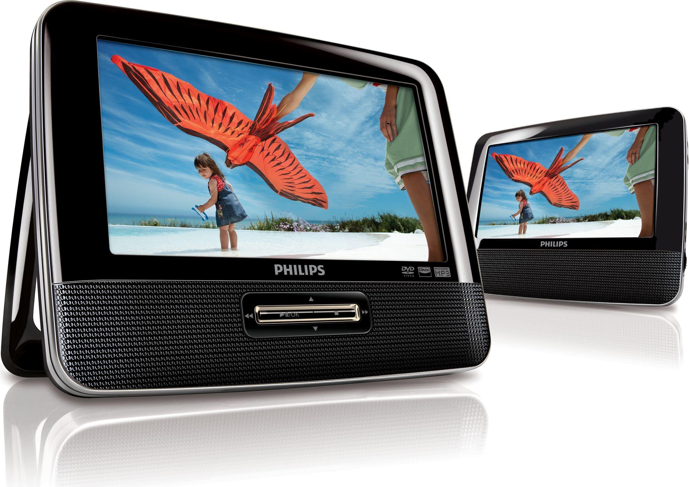 Philips PD7022/12 tragbarer DVD-Player 2x 18cm LCD-TFT-Bildschirm für 149,99 Euro