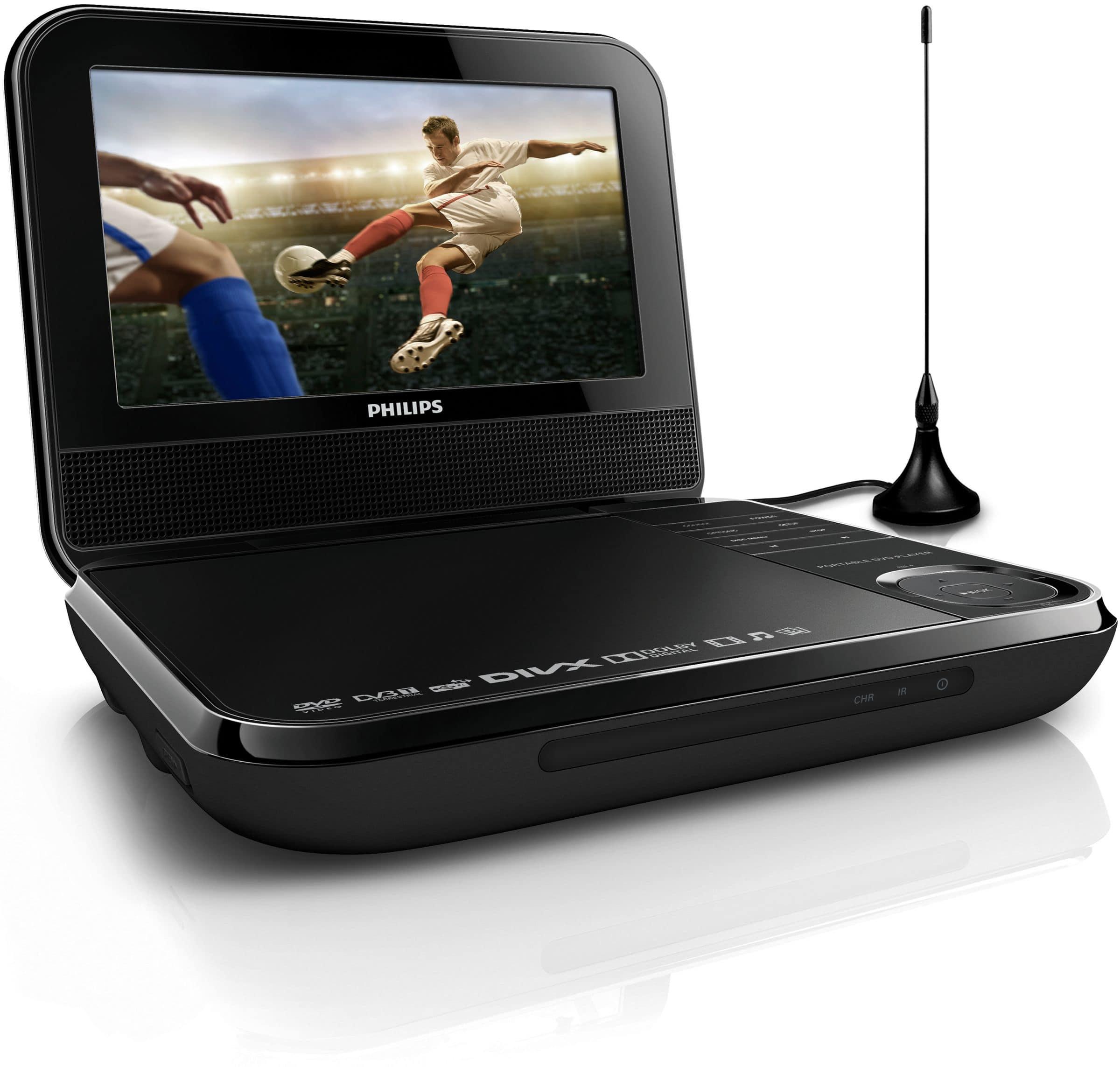 Philips PD7025/12 Tragbarer DVD-Player 17,8cm/7'' LCD TFT DVB-T für 149,99 Euro
