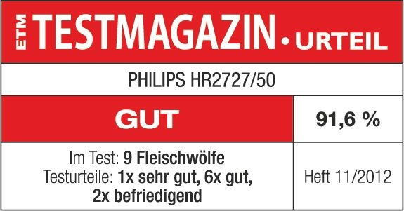 Philips Viva Collection Fleischwolf HR2727/50 für 119,99 Euro