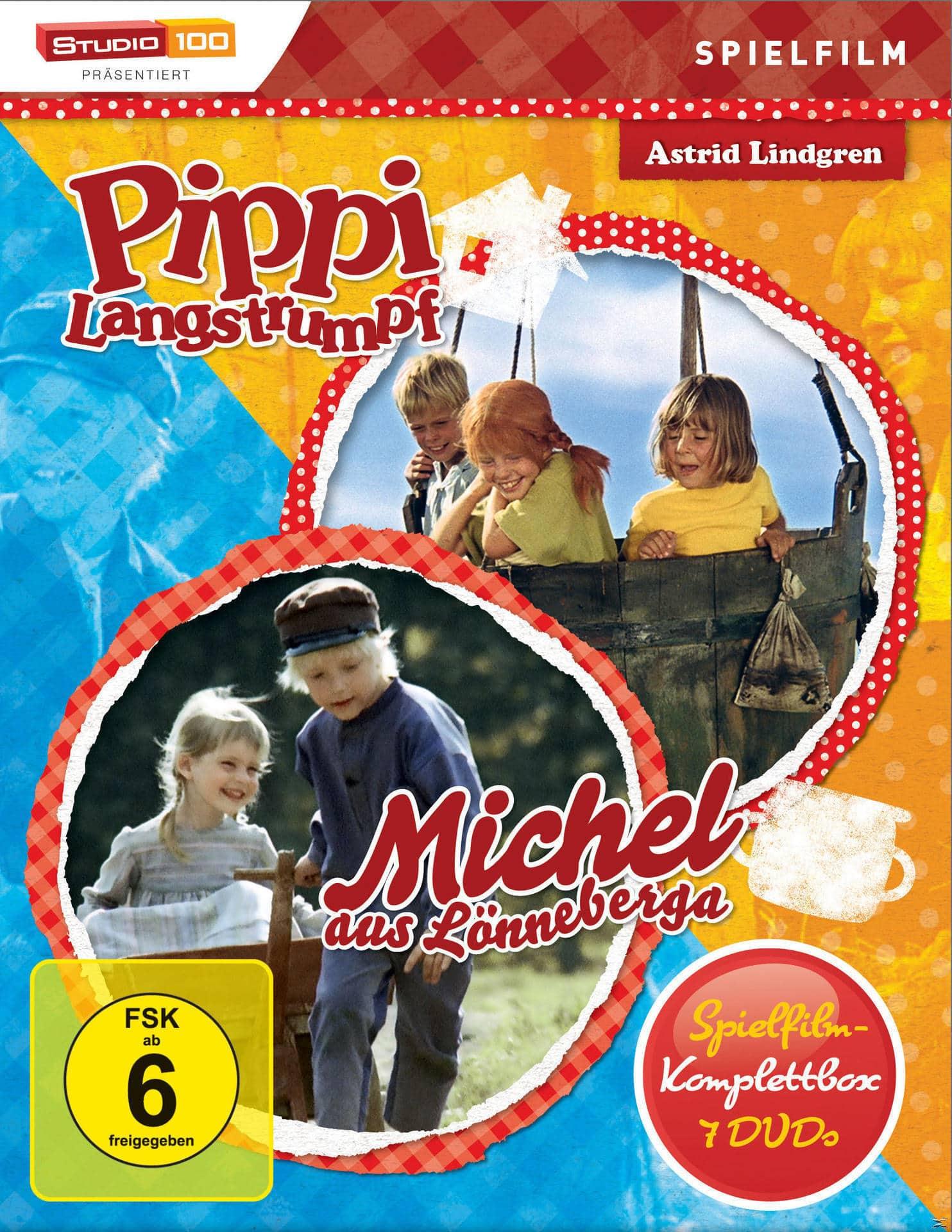 Pippi Langstrumpf & Michel - Spielfilm Box DVD-Box (DVD) für 57,99 Euro