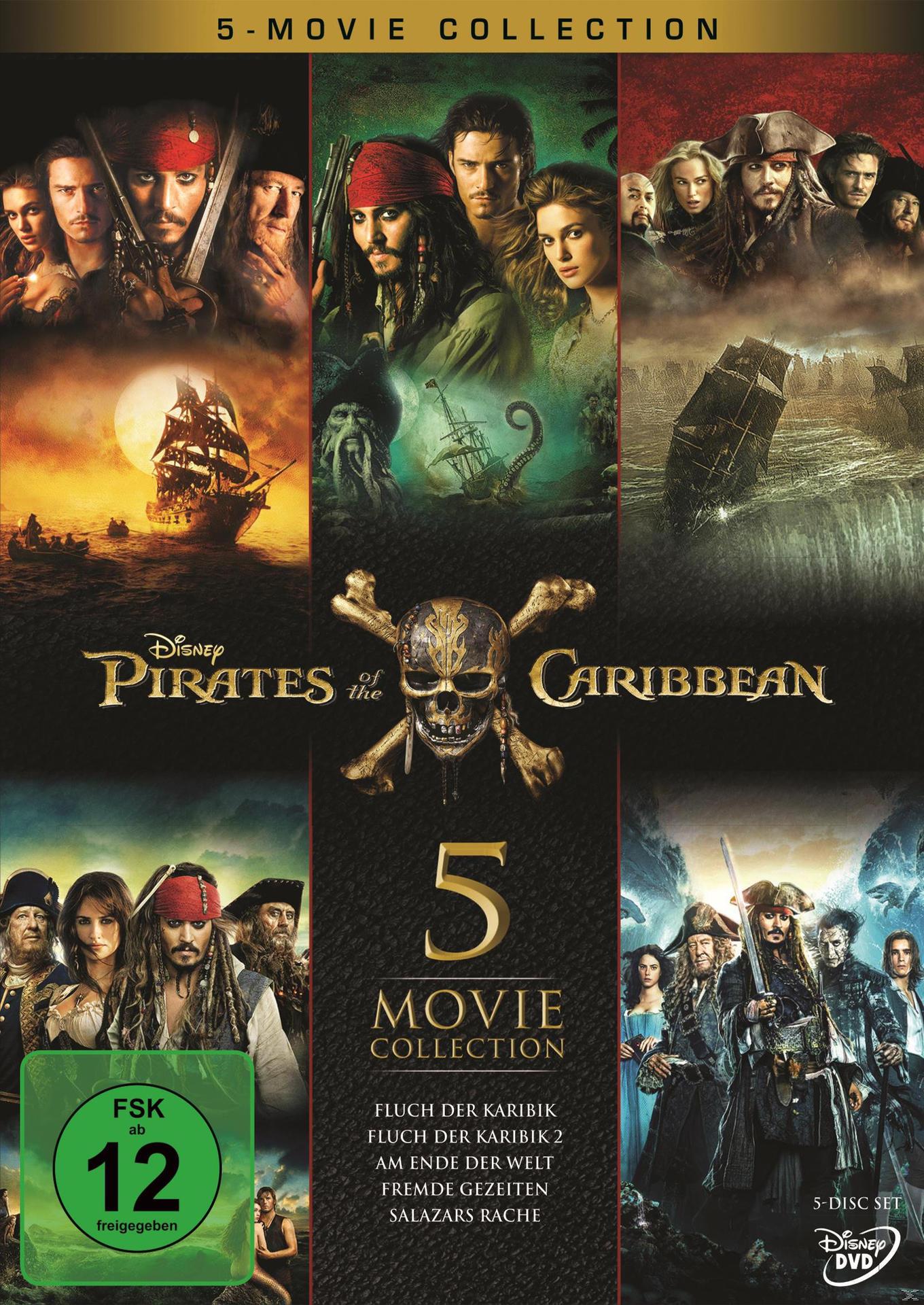 Pirates of the Caribbean 1 - 5 DVD-Box (DVD) für 29,99 Euro