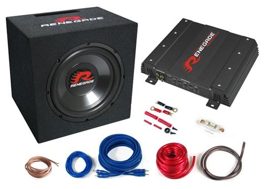 Renegade RBK550XL Bass-Kit 2-Kanal Endstufe+25cm Bassreflex-Subbox+Anschluss-Kit für 157,00 Euro