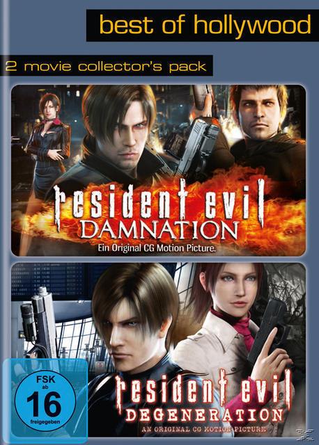 Resident Evil: Degeneration, Resident Evil: Damnation - 2 Disc DVD (DVD) für 12,99 Euro