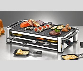 Rommelsbacher RCC 1500 Gourmet Raclette Fashion Raclettegrill 1500W 8 Pfännchen für 119,99 Euro