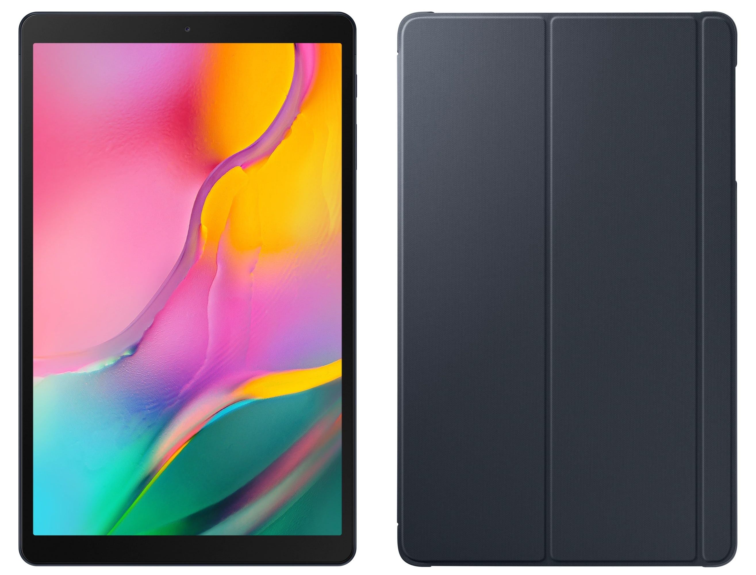 Samsung Galaxy Tab A 10,1' WiFi (2019) Tablet inkl. Book cover und Powerbank 10,1 Zoll 64 GB 1,6 GHz Octacore 3 GB Android 9.0 für 222,22 Euro