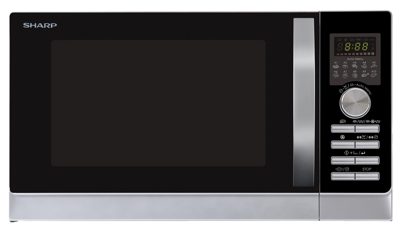 Sharp Home Appliences R-843INW Mikrowelle/Grill/Heißluft 900/1100/2500W 25l Express-Pizza für 229,00 Euro