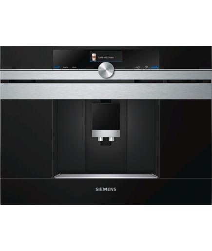 Siemens CT636LES1 Einbau‐Kaffeevollautomat 19bar One-Touch Zubereitung Edelstahl für 1.443,00 Euro
