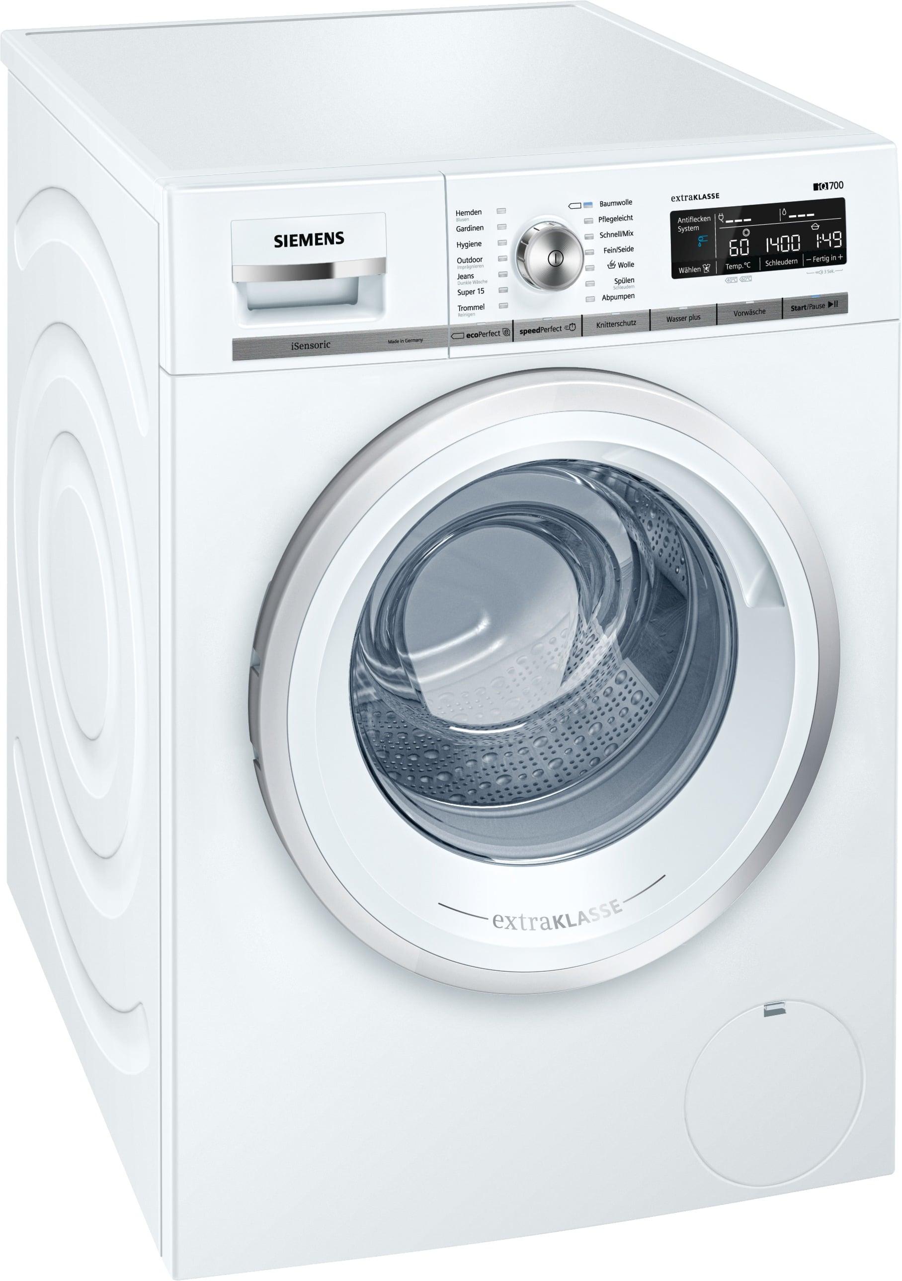 Siemens WM14W59A Waschmaschine 8kg 1400 U/min A+++ Frontlader AquaStop für 599,00 Euro