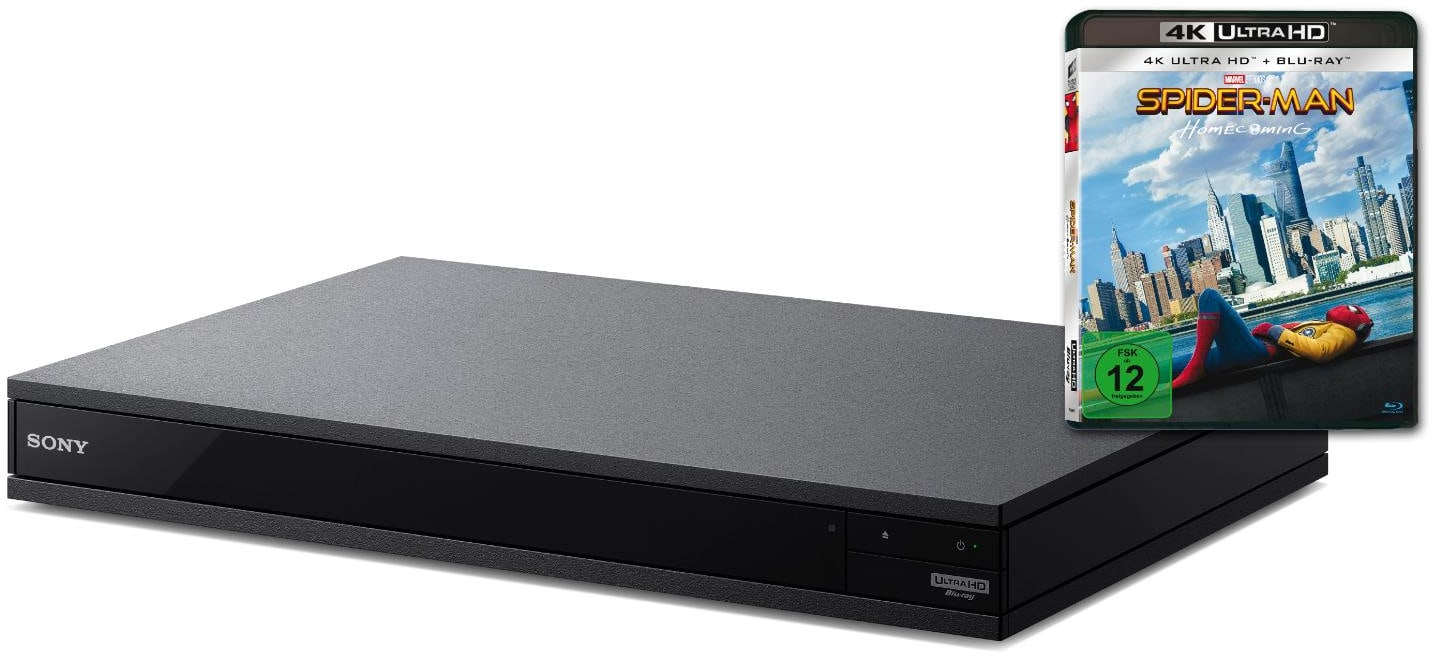Sony UBPX800B  4K Ultra HD Blu-ray Player Bundle mit Film Spiderman kit für 299,00 Euro