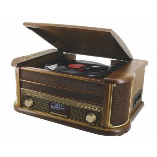 Soundmaster NR513DAB Nostalgie Stereo Musikcenter Bluetooth CD Plattenspieler für 259,00 Euro