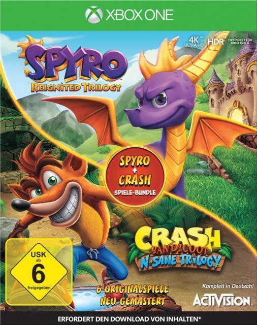 Spyro + Crash Remastered Spiele-Bundle (Xbox One) für 64,99 Euro