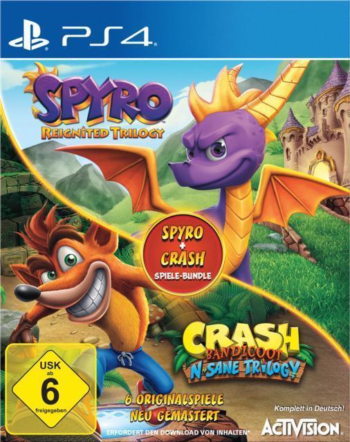Spyro + Crash Remastered Spiele-Bundle (PlayStation 4) für 58,48 Euro