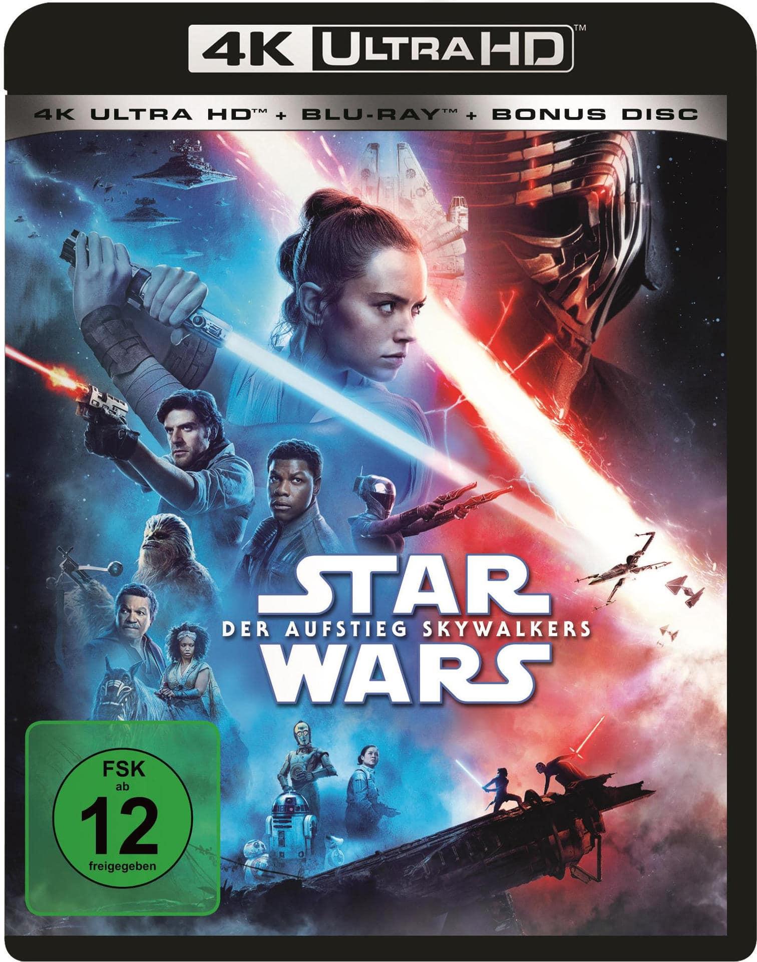 Star Wars: Der Aufstieg Skywalkers Steelbook (4K Ultra HD BLU-RAY + BLU-RAY) für 33,99 Euro