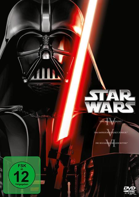 Star Wars: Episode IV - eine neue Hoffnung, Episode V - Das Imperium schlägt zurück, Episode VI - Die Rückkehr der Jedi-Ritter DVD-Box (DVD) für 29,99 Euro