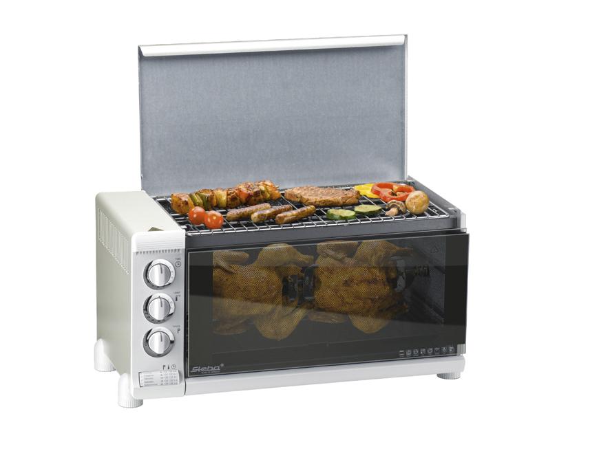 Steba G 80/31C.4 Kompaktbackofen 1800W BBQ-Funktion katalytische Selbstreinigung für 219,99 Euro