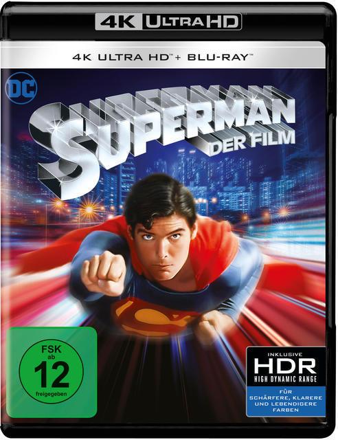 Superman - 2 Disc Bluray (4K Ultra HD BLU-RAY + BLU-RAY) für 25,99 Euro
