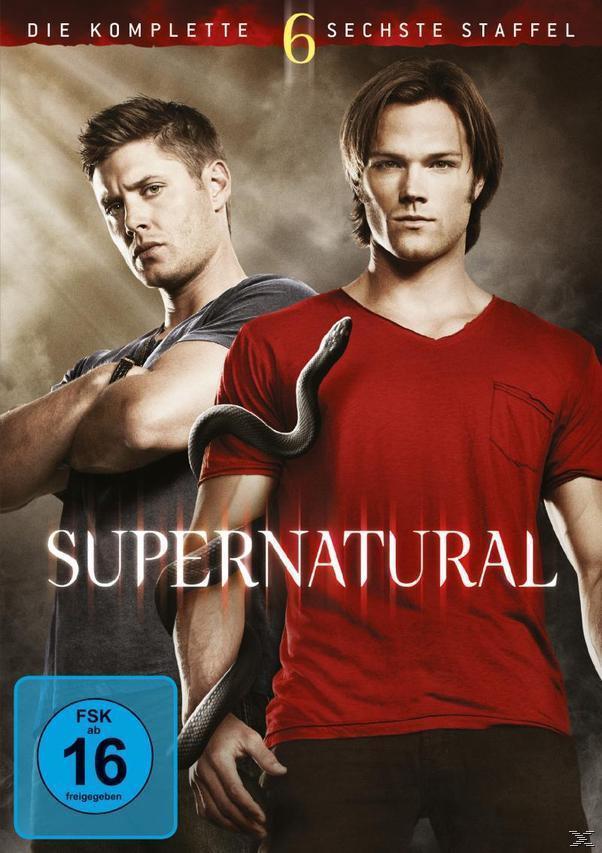 Supernatural - Die komplette 6. Staffel DVD-Box (DVD) für 14,99 Euro