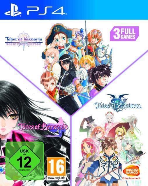 Tales of: Vesperia + Berseria + Zestiria Compilation (PlayStation 4) für 44,99 Euro