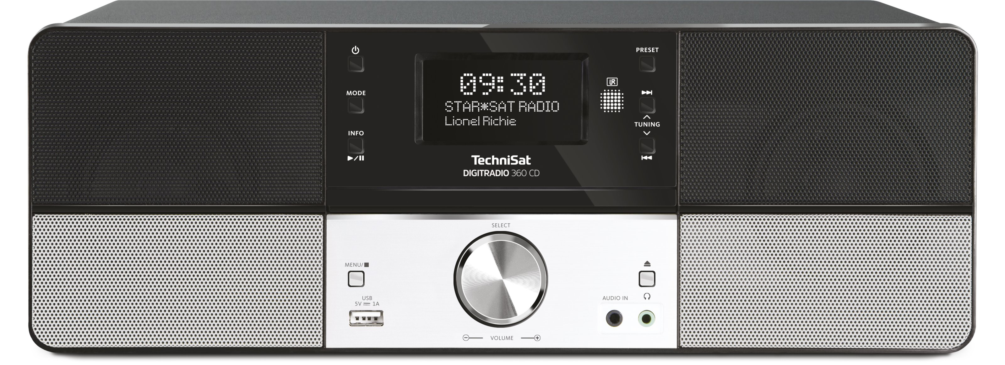 TechniSat DIGITRADIO 360 CD DAB+/UKW-Stereo-Designradio MP3-CD-Player für 149,99 Euro