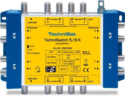 TechniSat TechniSwitch 5/8 K Multischalter Verteilen einer Satellitenposition für 116,00 Euro