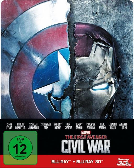 The First Avenger: Civil War Steelcase Edition (BLU-RAY 3D/2D) für 17,99 Euro