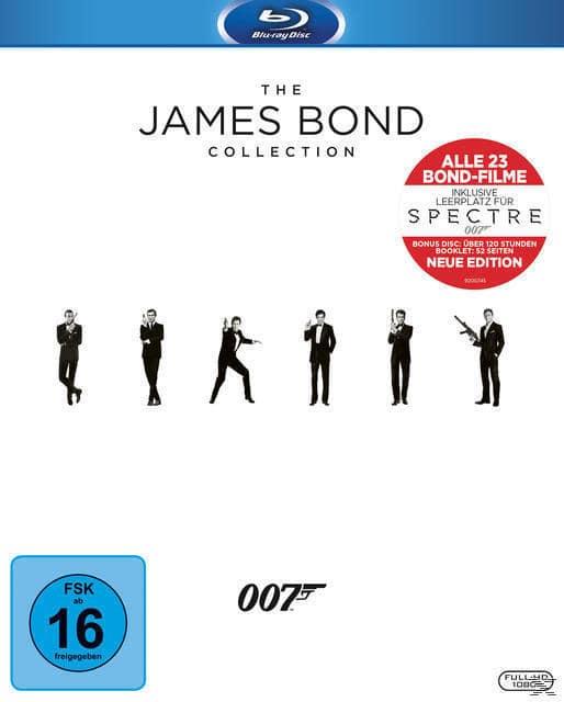 The James Bond Collection Bluray Box (BLU-RAY) für 135,00 Euro