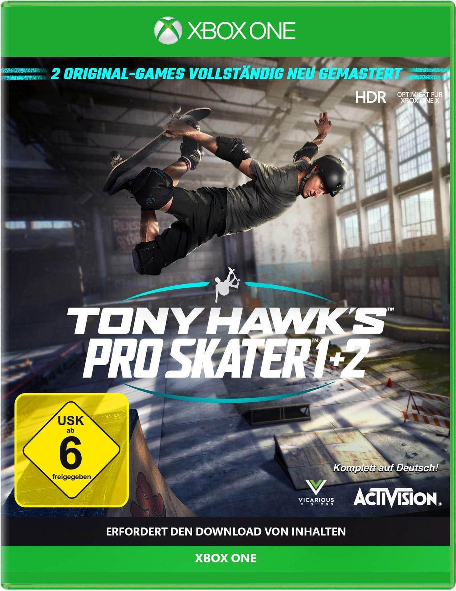 Tony Hawk's Pro Skater 1 + 2 (Xbox One) für 39,99 Euro