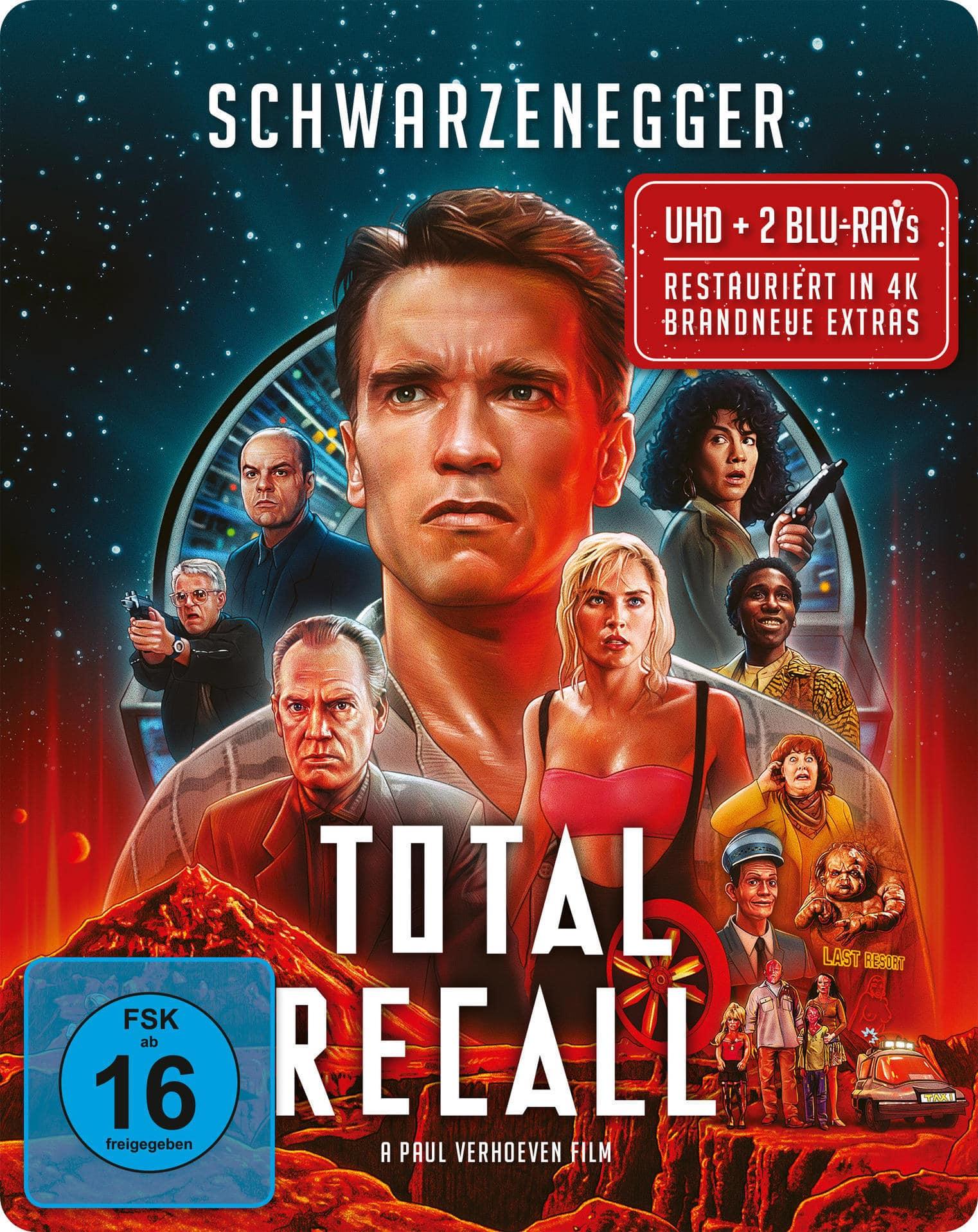 Total Recall - Die totale Erinnerung Limited Steelbook (4K Ultra HD BLU-RAY) für 34,11 Euro