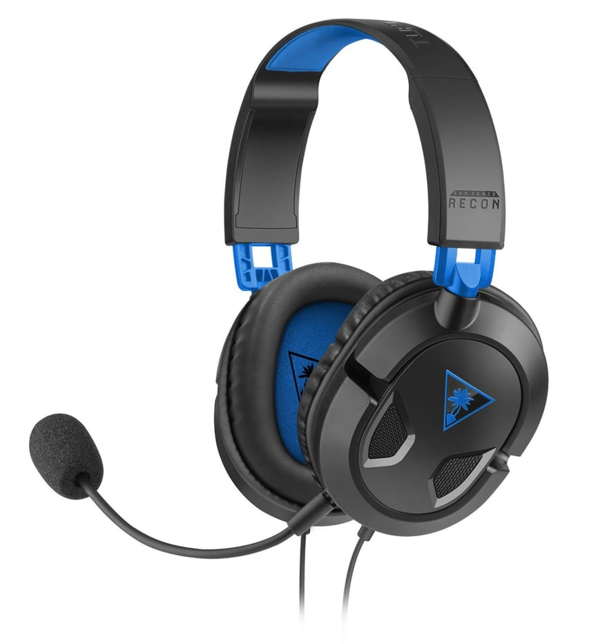 Turtle Beach TB033034 Ear Force Recon 50P Gaming-Headset Schwarz,Blau für 39,99 Euro