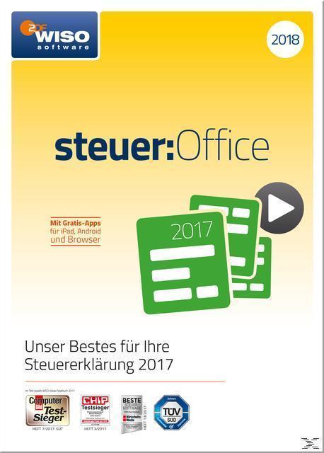 WISO steuer:Office 2018 (PC) für 49,99 Euro