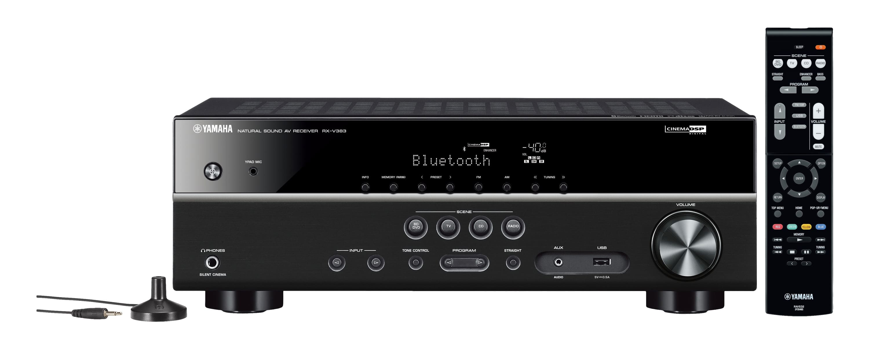 Yamaha RX-V383 AV-Receiver 5-Kanal Surround Sound Bluetooth für 369,00 Euro