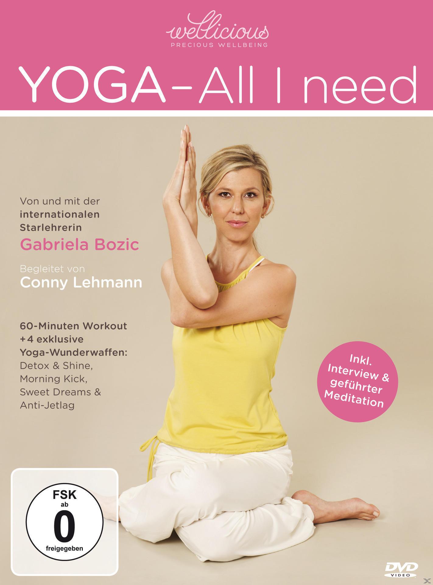 Yoga - All I Need. - presented by wellicious (DVD) für 16,99 Euro