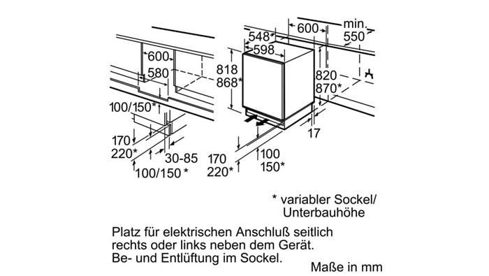 Siemens Unterbau Kühlschrank : Siemens ku la unterbaukühlschrank l l a kwh jahr
